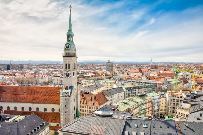 Munich, Germany City Skyline