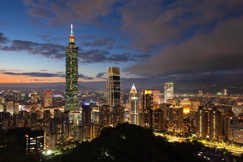 Taipei Taiwan Skyline at Night