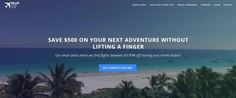 Dollar Flight Club website