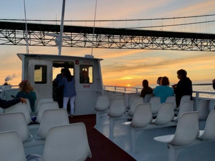 Sunset cruise on Lake Huron from Mackinaw City