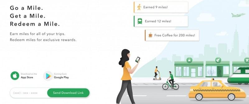 Mile App website