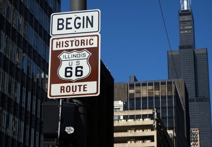 Beginning of Route 66 in Chicago
