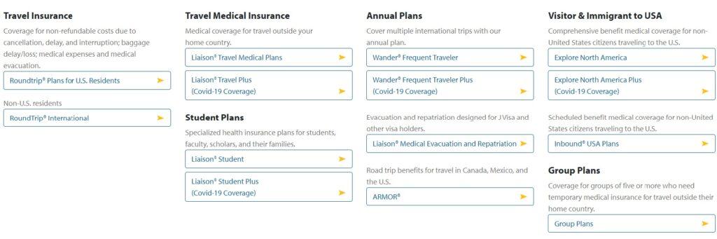 Seven Corners Insurance plans
