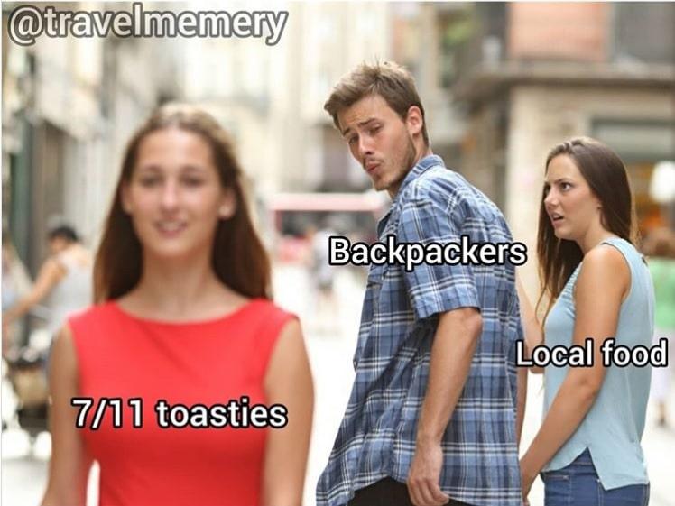 Travel Meme 7/11 food