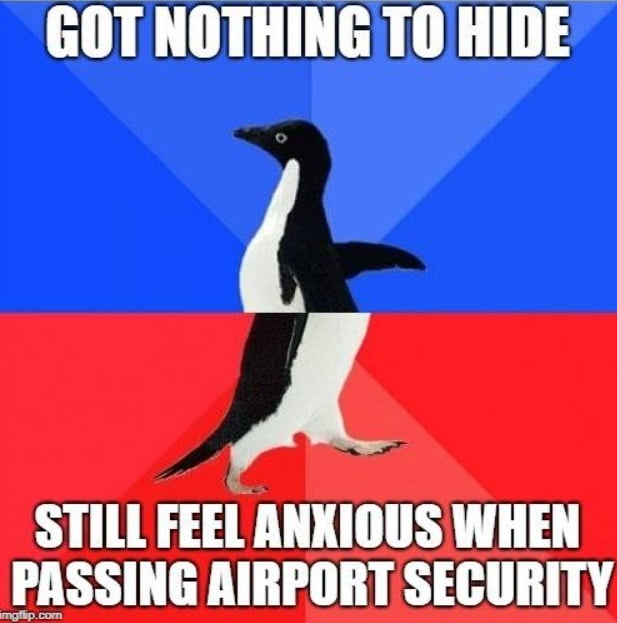 Travel meme about airport security