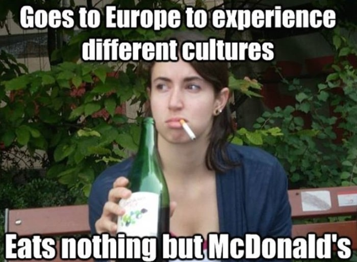 Meme about euro food
