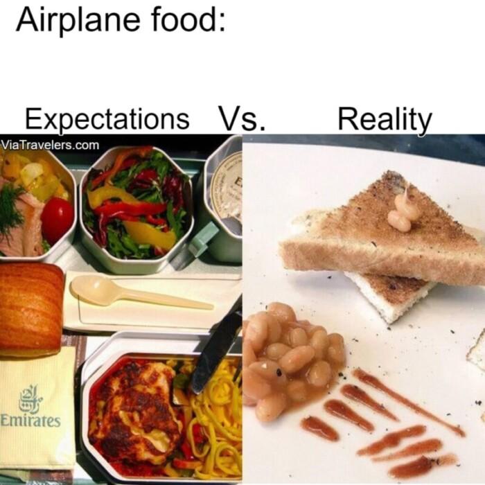 Travel meme airplane food