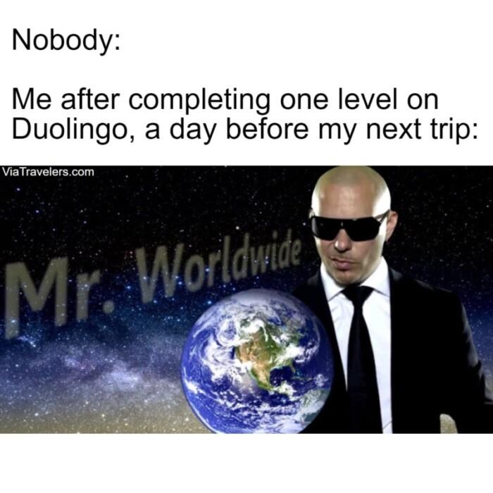 Travel meme multilingual