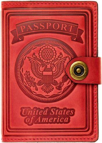 Villini - Leather US Passport Holder Cover