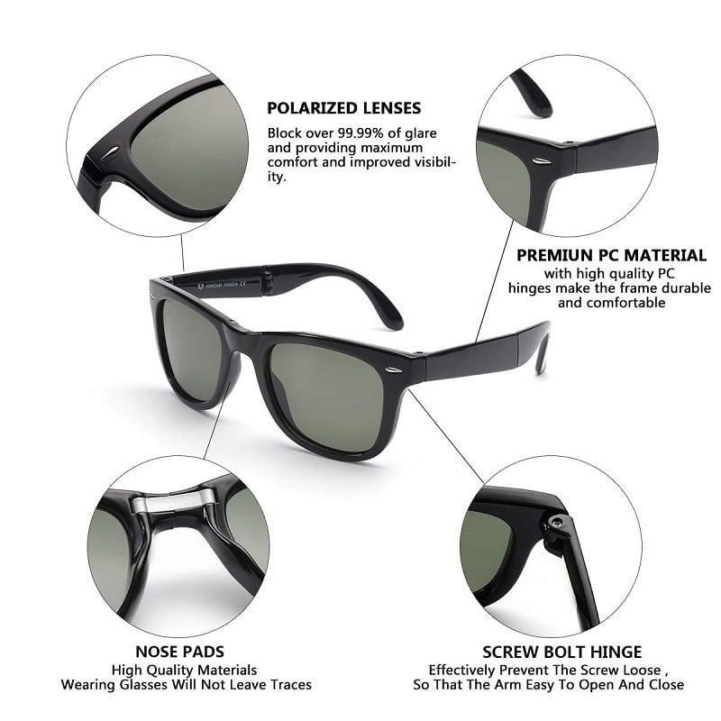 Easy Carry Polarized Mini Folding Sunglasses