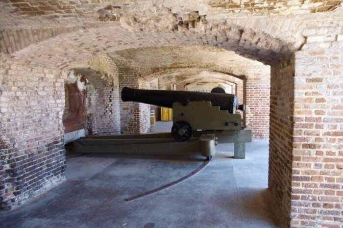 Take a walking tour of Fort Sumter, the site of the first battle of the Civil War.
