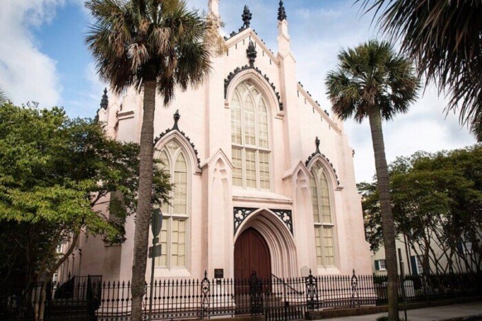 Take a Charleston walking tour of the French Quarter to see the oldest French Huguenot church in America.