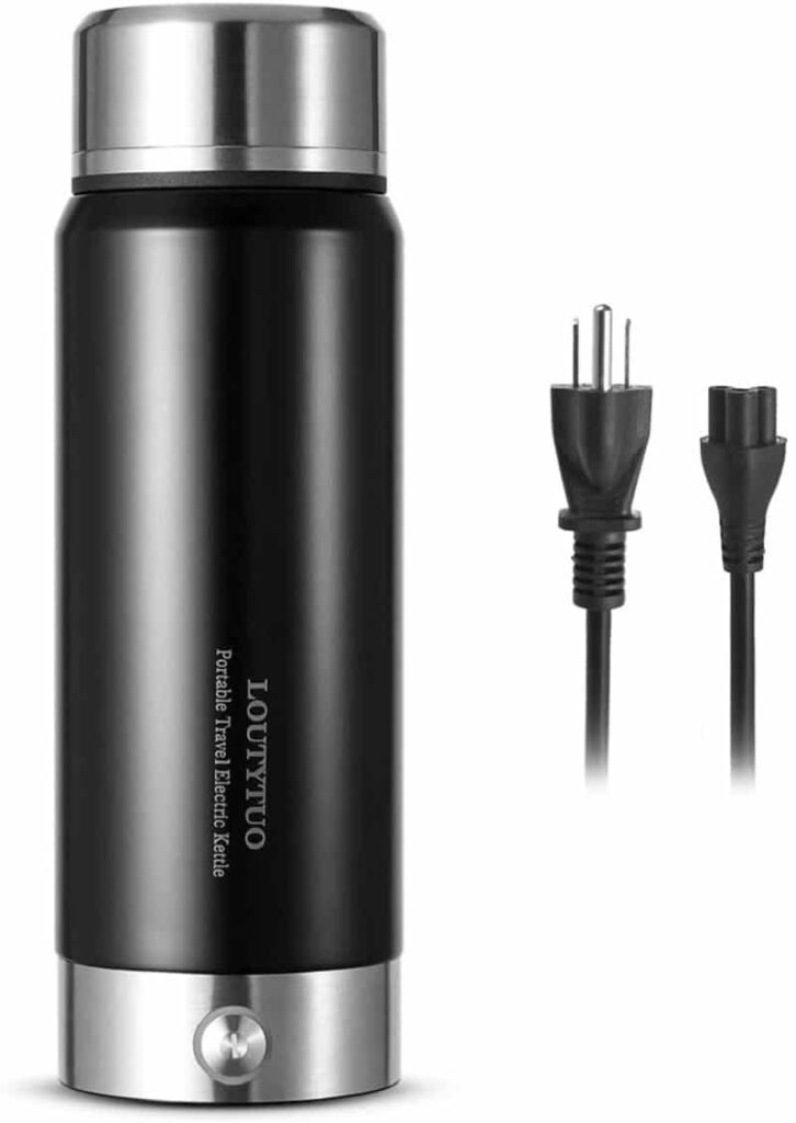 Loutytuo 2 in 1 300ml Portable Travel Electric Kettle