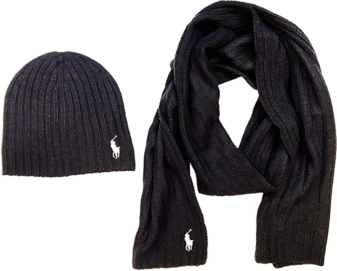 Polo Ralph Lauren Mens 2 Piece Set Hat & Scarf