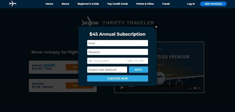 Thrifty Traveler login