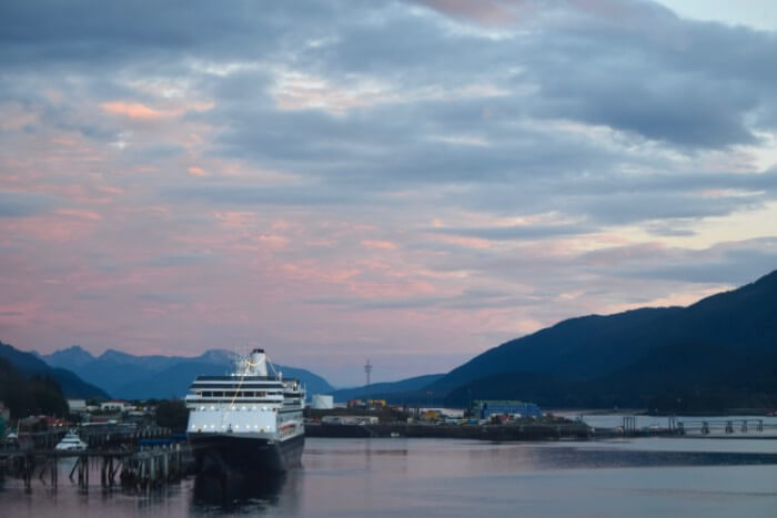 Juneau Harbor with Ship