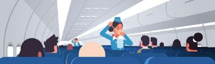 flight attendant explaining
