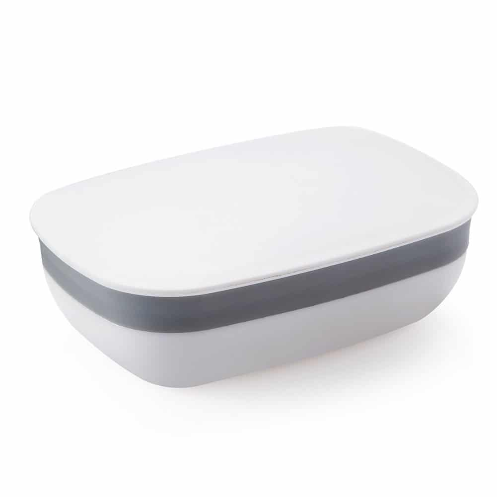 White and grey soap case