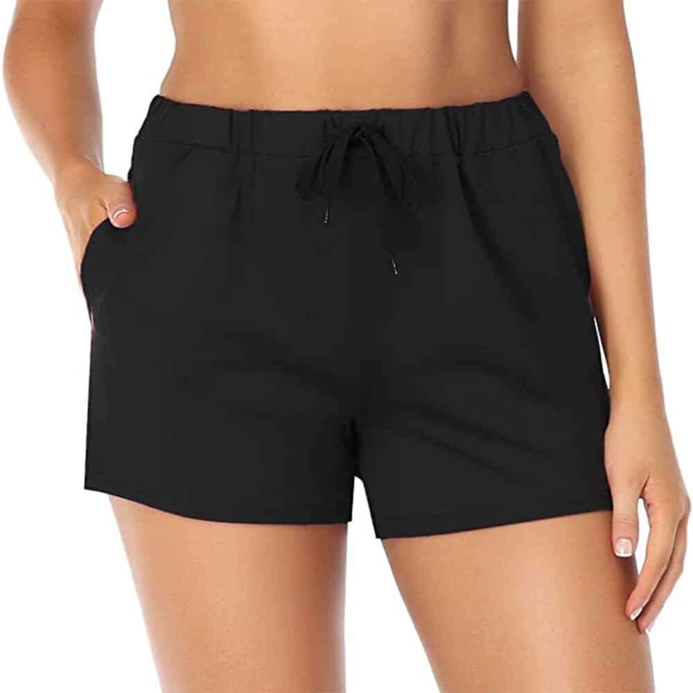 Sexy black shorts for hot weather