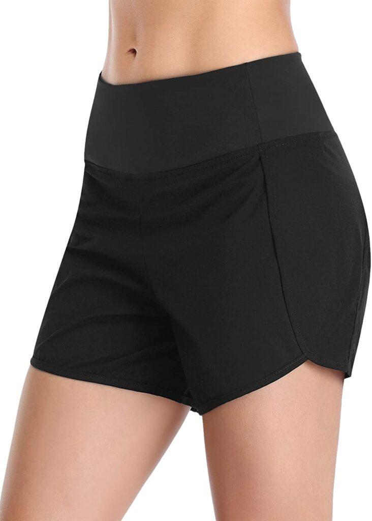 Black hidden-pockets shorts
