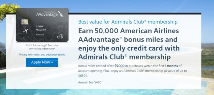 AAdvantage Executive World Elite Mastercard