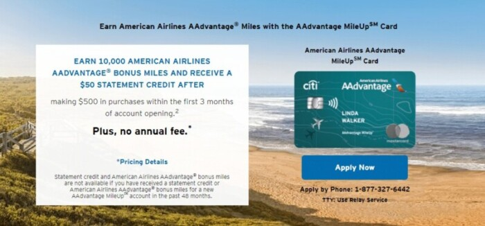 American Airlines AAdvantage MileUp Mastercard