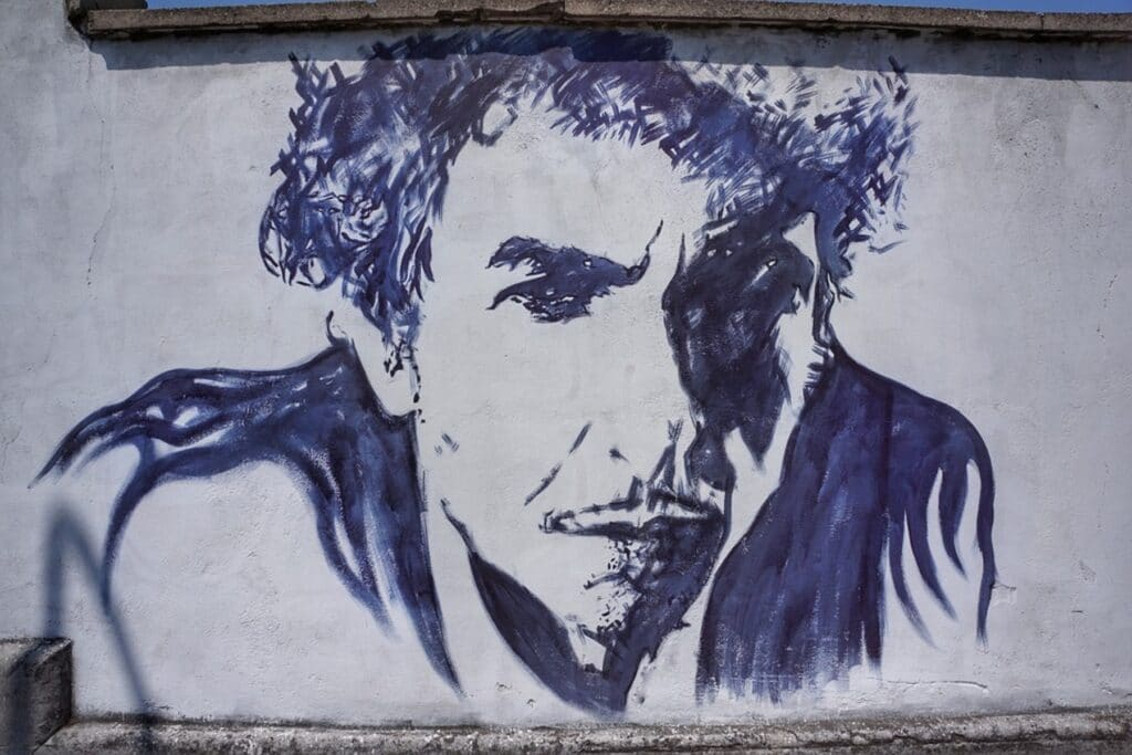 Bob Dylan street art