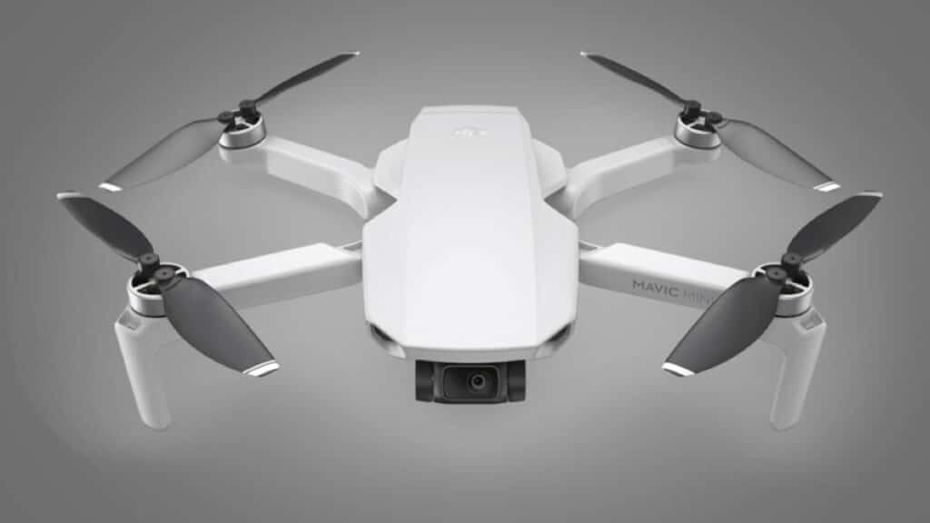White lightweight drone