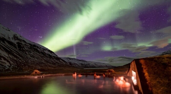 Adventurerers will think Deplar Farm is the best hotel to view northern lights in Iceland.