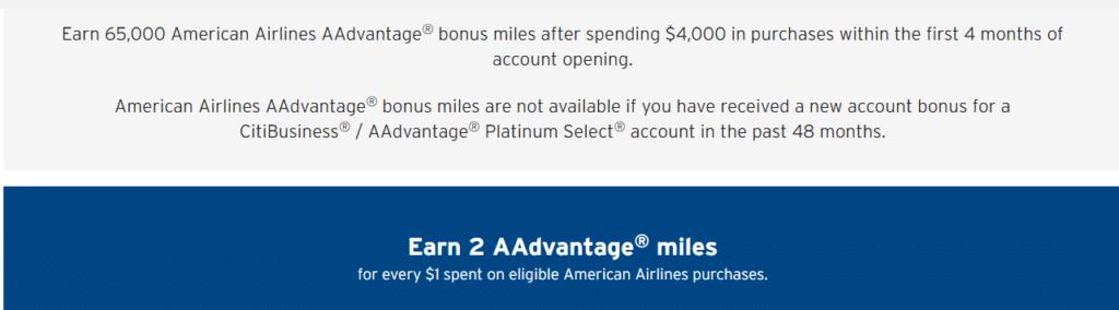 Earn 65,000 American Airlines Bonus Miles