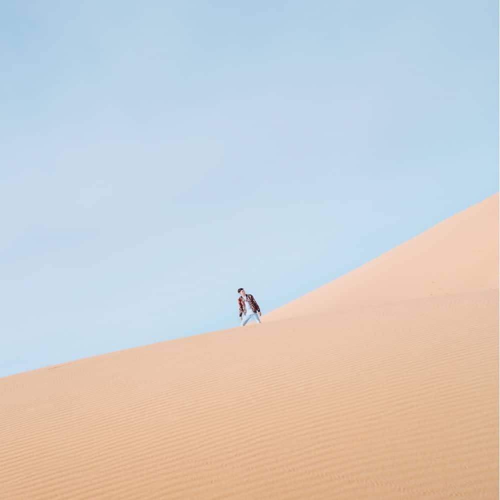 The Gobi Desert in Mongolia