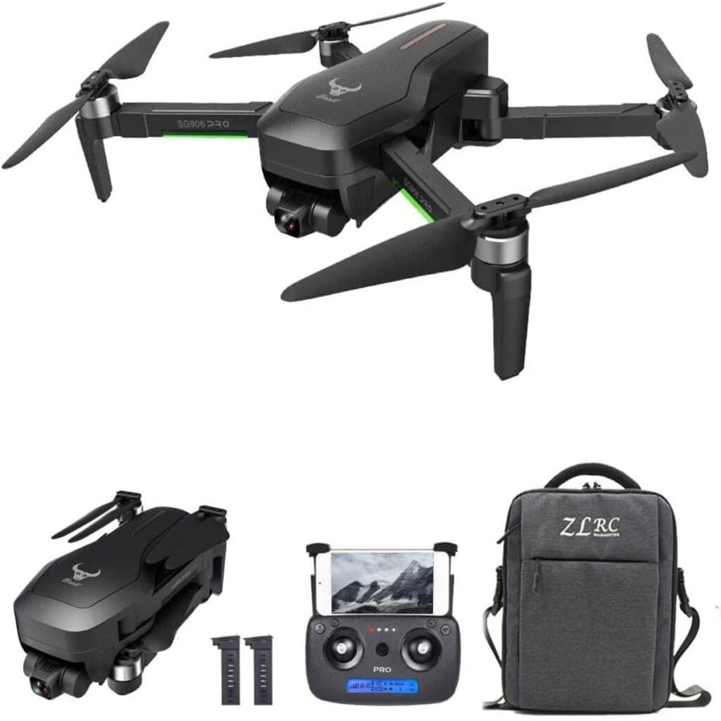 Nice Black drone with its equipment