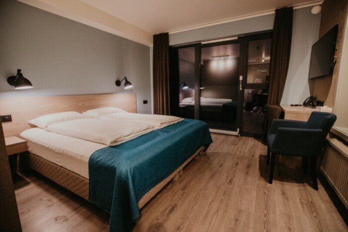 The double guest room at Hotel Kria.