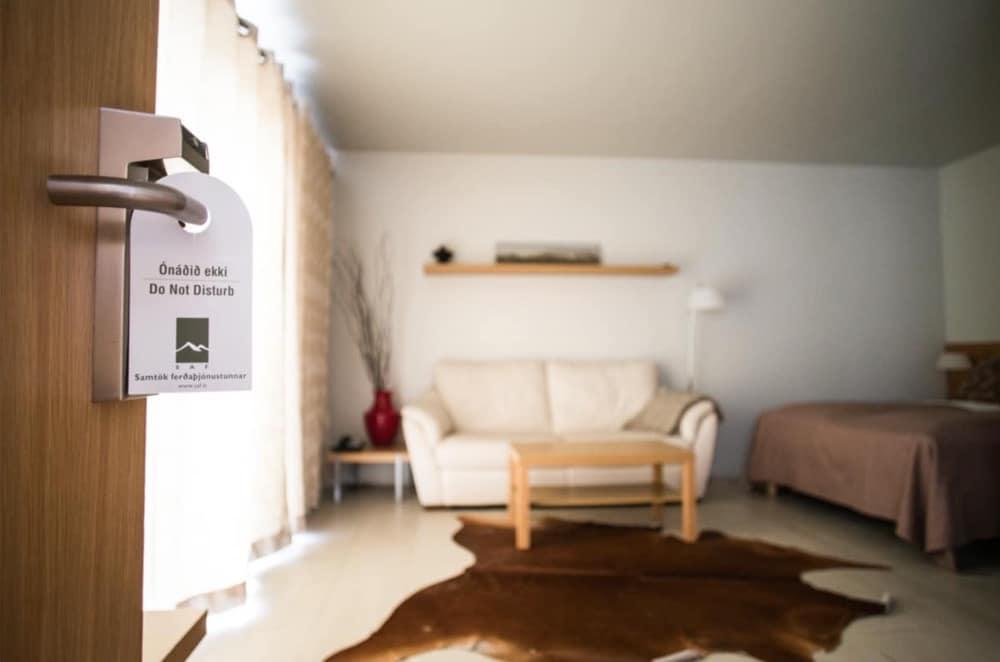 Interior of superior guest room of Hotel Laki.