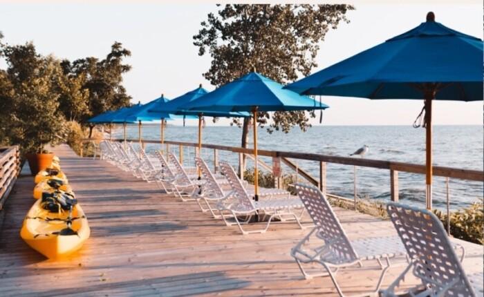 Lake views from the Lake Shores Resort