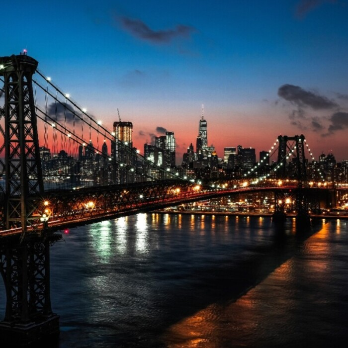 New York City night sky
