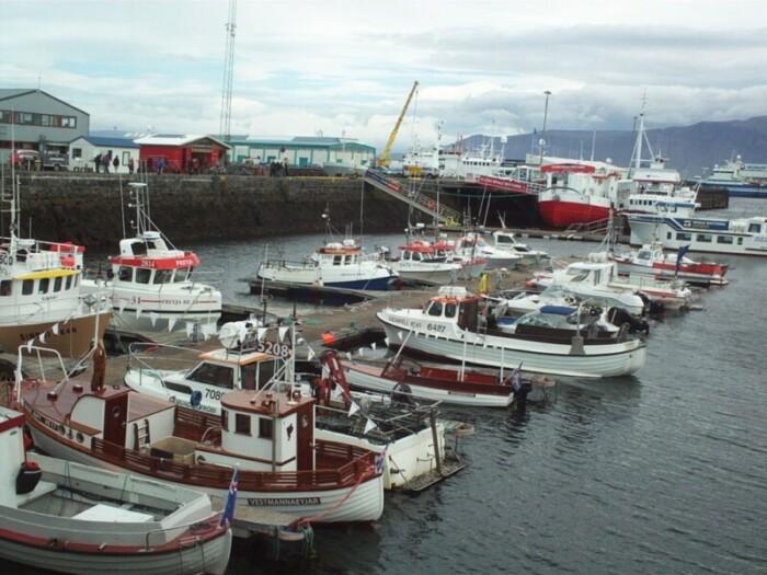 Boats in Reykjavik's Old Harbour