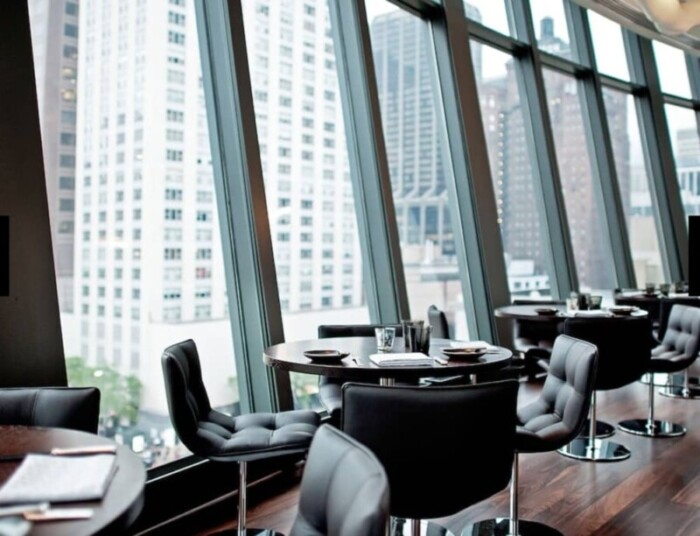 NoMi Kitchen Windows at the Park Hyatt Chicago, one of the best hotels in the Midwest.