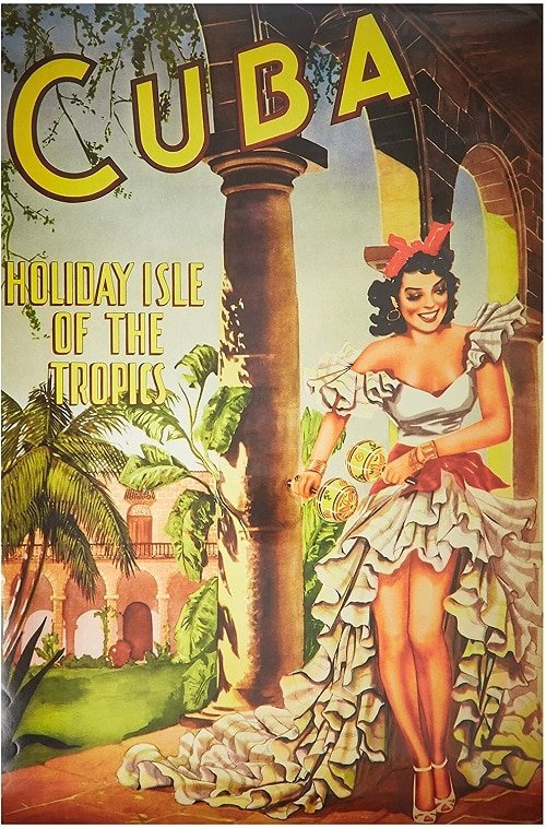 Poster Vintage Reproduction Travel Cuba