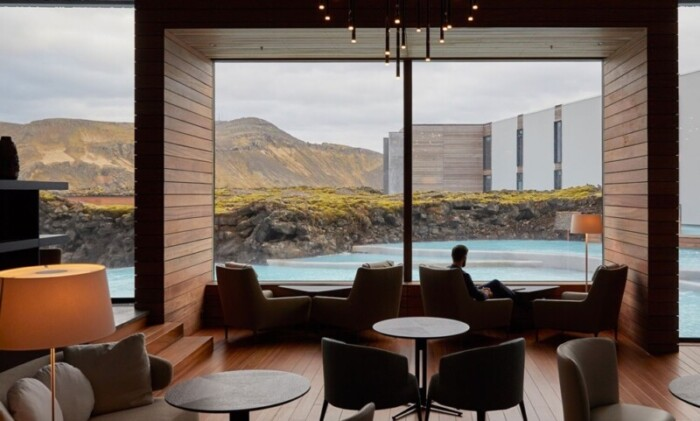 The Retreat at Blue Lagoon is one of the best luxury hotels for northern lights in Iceland.