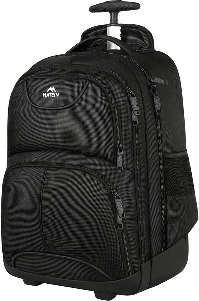 Types of travel bags: rolling backpack