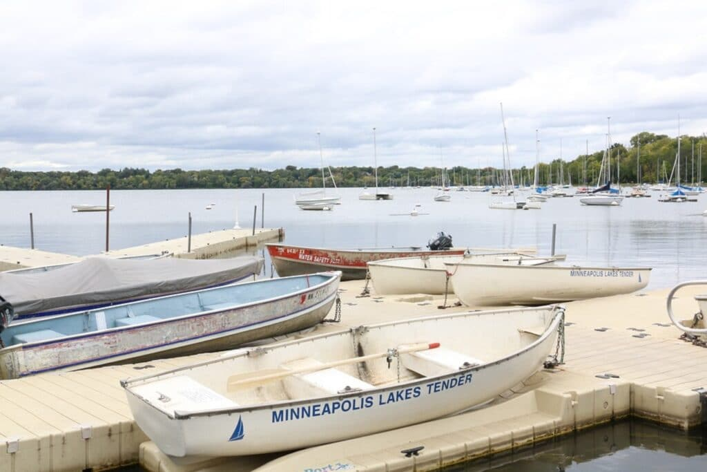 Boats in a lake in Minneapolis
