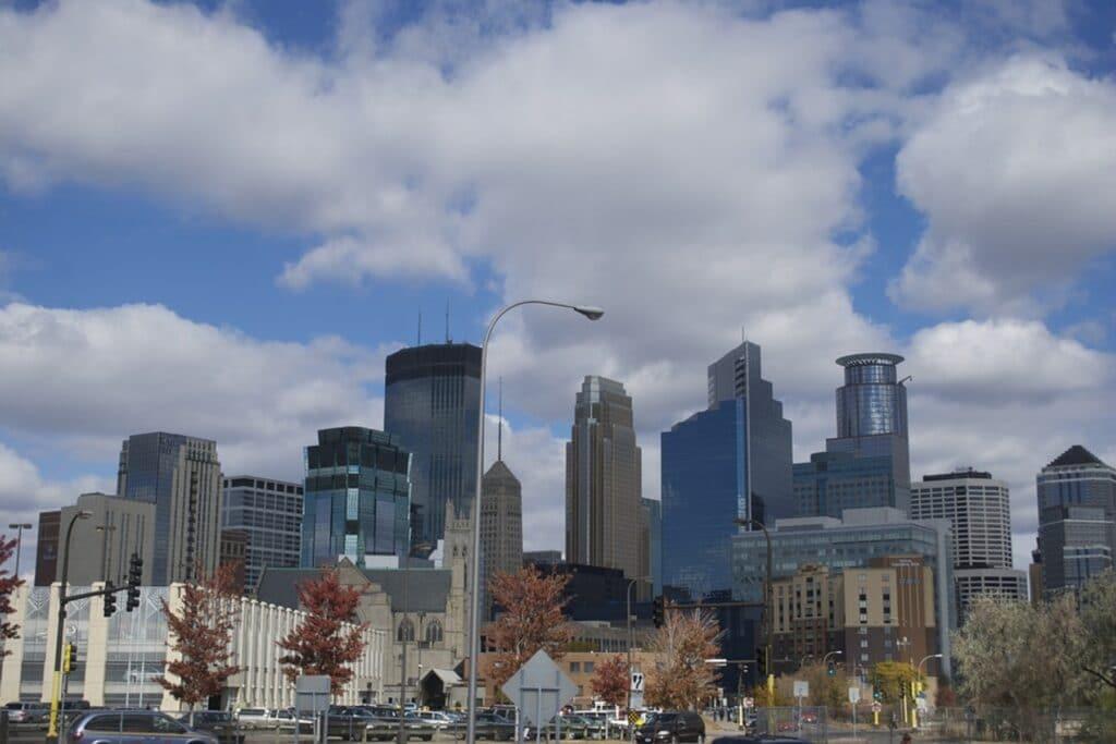 Minneapolis skyline, daytime