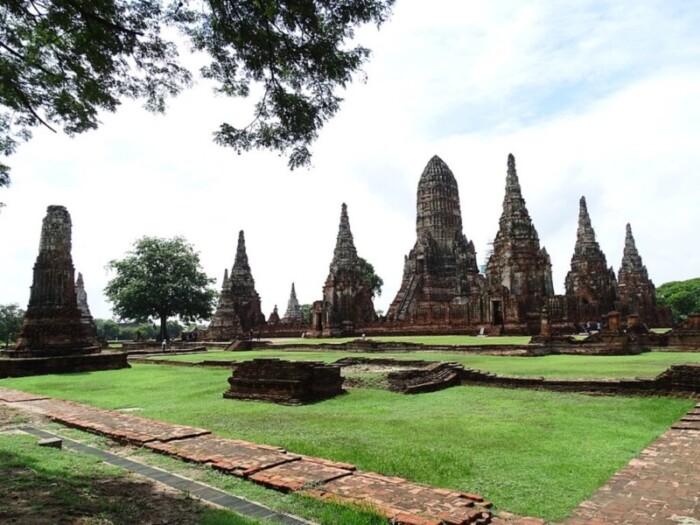 Wat Chaiwattanaram in Ayutthaya, one of the best places to visit in Thailand.