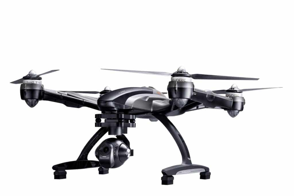 black and grey helicopter-like drone