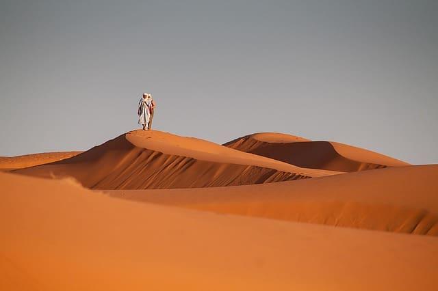 A desert in morocco