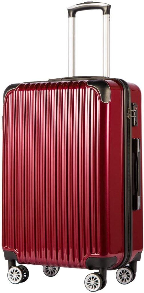 Coolife Luggage Expandable suitcase