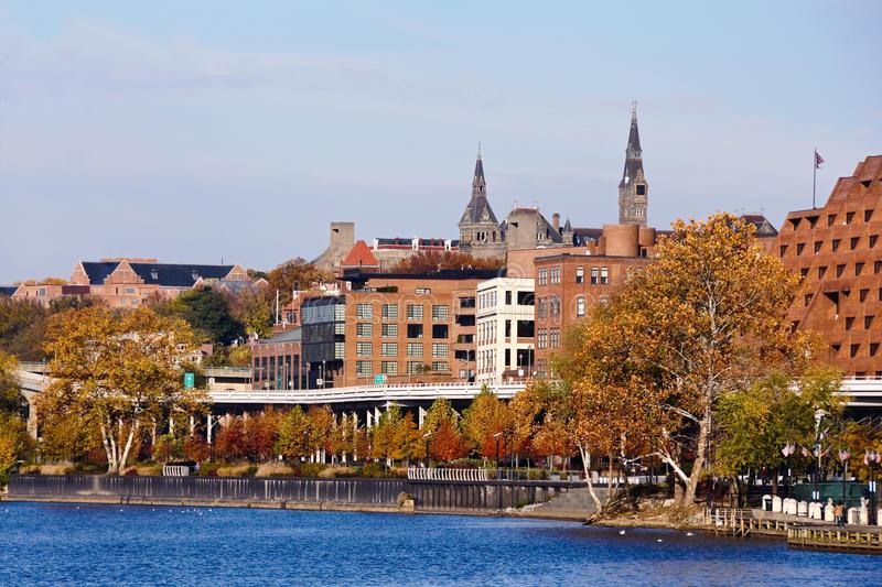 Georgetown Waterfront Park royalty free image