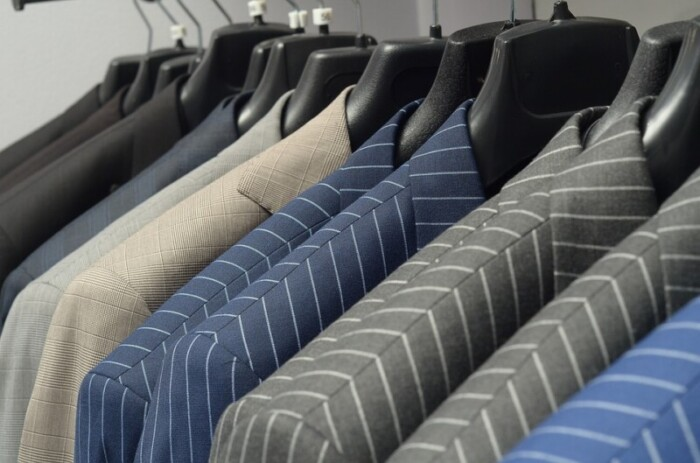 suits on a hanger