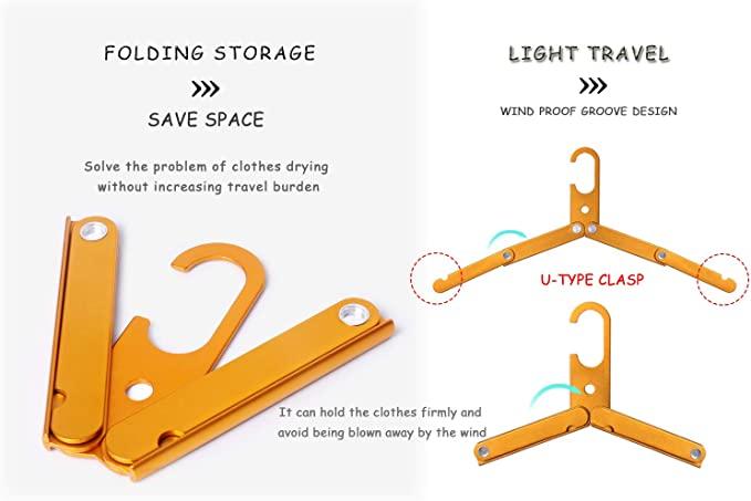 orange folding hanger
